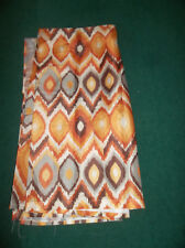 UNBRANDED EARTHTONE ABSTRACT FABRIC SHOWER CURTAIN NEW
