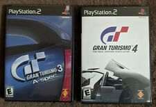 Gran Turismo 3 and 4 lot/bundle (Sony PlayStation 2 Ps2) Complete Cib, Tested