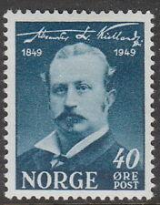 Stamp Norway Sc 0296 1949 Alexander Kielland Author Birth Centennial Norge MNH