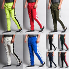 Victorious Men's Slim Fit Striped Sports Workout Techno Track Pants TR522-D1H