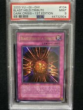 Yugioh Dark Crisis 1st Edition Blast Held By A Tribute DCR-104 PSA 9 Mint