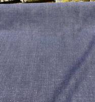 100% Linen Highland Indigo Blue Belgian Fabric By the Yard