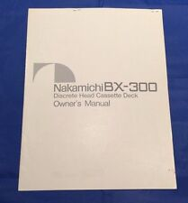 Nakamichi BX-300 Cassette Deck Original Owners Manual 8 Pages