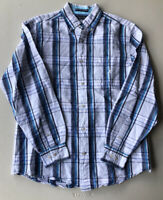 Men's Nautica Classic Fit Long Sleeve Plaid Button Down Shirt Pre-Owned Size M