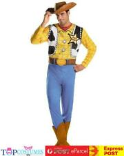 Disney Toy Story 3 Cowboy Woody Classic Fancy Dress Up Adult Mens Costume