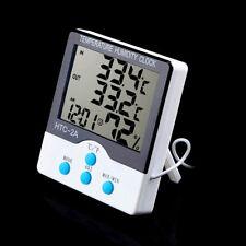 Termometro misuratore temperatura interno esterno umidità sveglia HTC-2A C/F