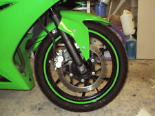 CUSTOM KAWASAKI NINJA LIME GREEN RIM STRIPES WHEEL DECALS TAPE STICKERS FULL SET