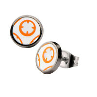 Star Wars VII: The Force Awakens Episode 7 BB-8 Stainless Steel Stud Earrings