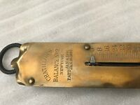 Antique Brass CHATILLON No. 2 Spring Scale 50 lb Hanging Hook Scale New York