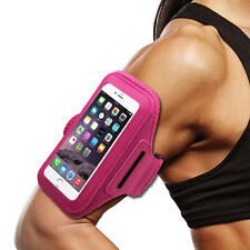 ZTE MAX XL PRO Pink Sports Band Arm Holster Running Gym Workout Cell C
