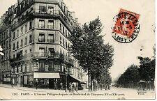 CARTE POSTALE / PARIS AVENUE PHILIPPE AUGUSTE ET BOULEVARD CHARONNE