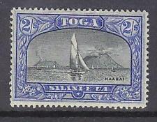 Tonga Pacific Islands SG 51 2/- black & ultramarine ship boat yacht Mint Hinged