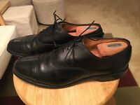 Allen Edmonds BYRON Black Men's US11B Leather USA Cap Toe Oxfords Shoes