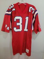 Vintage 80s Ripon PA NFL NEW ENGLAND PATRIOTS 31 Red Jersey Mens XL