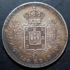 1899 Plata 500 REIS CARLOS I PORTUGAL
