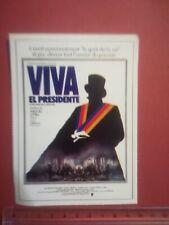 FICHE CINÉMA Première FILM - VIVA EL PRESIDENTE - MIGUEL LITTIN 1978