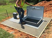 Outdoor tornado storm shelter bunker safe room in ground, 14 people, with toilet