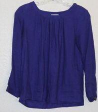 J Crew Womens Size 00 Shirt Long Sleeve Pullover Purple