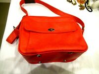 Samsonite Silhouette lipstick red carry on bag luggage, vintage 1970s