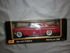 Maisto 1956 Chrysler 300B special edition red die cast metal car 1.18 scale