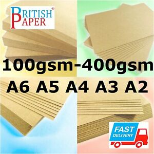 A2 A3 A4 A5 A6 BROWN KRAFT CARD BLANK THICK PAPER CARDBOARD CRAFT TAG BAG LABELS