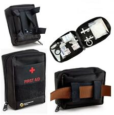 Compact Survival First Aid Kit Bag 62 Piece Lightweight Small Travel Fit On Belt