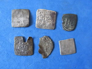 RARE Lot 6 silver ALMOHAD Islamic/Spain. Al-Andalus mint XII - XIII cent. A.D.