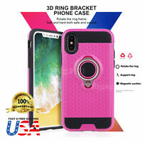 360 Rotating Ring Grip kickstand Dual Layer Shockproof Anti-Scratch for iPhone X