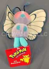 "Pokemon #12 BUTTERFREE 5"" Beanie Baby Plush w/ Original Tag Nintendo Hasbro 1998"