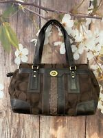 Coach 11072 IBrown Satchel Purse Bag Leather