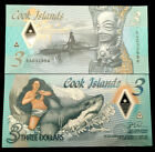 COOK ISLANDS 3 Dollars Polymer 2021 World Paper Money UNC Currency