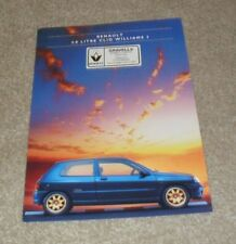 Renault Clio 1995 Car Sales Brochures