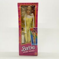 Mattel 1985 Sport Music Barbie Doll Foreign Edition Mexico #9988 New Sealed Box