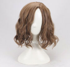 Men's handsome short curly brown hair cosplay wig +a wig cap