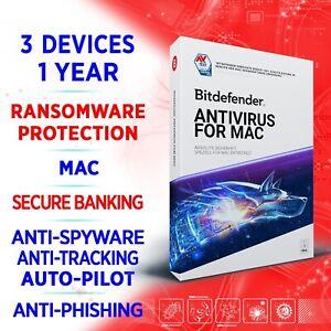 Bitdefender Antivirus for Mac 2021 3 Geräte 1 Jahr / VOLLVERSION +VPN