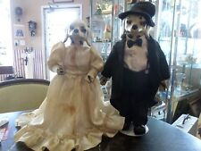 "Vintage Pair Of 15"" Dalmation Bride And Groom Dolls"