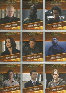 "Arrow Season 4 - ""Character Bios"" 9 Card Chase Set #CB1-CB9"