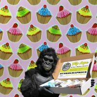 CUPCAKES FOOD HYDROGRAPHIC WATER TRANSFER HYDRO FILM DIP APE