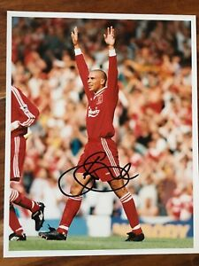 Stan Collymore Liverpool Signed Original 10x8 Press Photo.