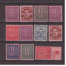 Deutsches Reich Sammlung Dienstmarken aus Mi.66-74 ungebraucht Falz