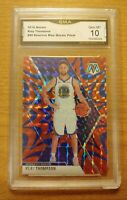 KLAY THOMPSON 2019-20 Panini Mosaic Reactive Blue #80 Gem Mint 10 Warriors