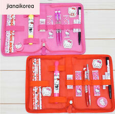 Hello Kitty Cute  Stationery Set Pencil Eraser Note Ruler Pen Pink Child Girls