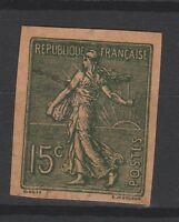 FRANCOBOLLI - 1903 FRANCIA SEMINATRICE C. 15 NON DENTELLATO Z/9717
