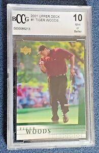 Tiger Woods 2001 Upper Deck #1 BCCG graded 10 Mint