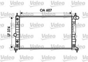 Radiateur de refroidissement VALEO 734831 SAAB 9-5 I
