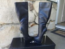 Giaro Ultra Fetish Extreme Platform Boots  Black Leather EU size 40