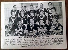 1967 DAILY MIRROR RUGBY LEAGUE TEAM PHOTO CARDS ~ NEW ZEALAND TEST TEAM