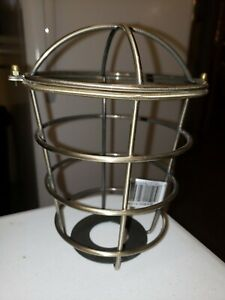 "Westinghouse 8503000: 2-1/4"" Antique Brass Industrial Cage Neckless Metal Shade"