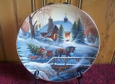 TERRY REDLIN Collector Plate HEADING HOME dog creek snow christmas