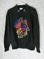 Kansai Yamamoto Vintage Embellished Graphic Sweater Size Large